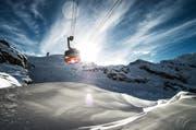 Eine Gondel im Skigebiet Engelberg-Titlis. (Bild: Roger Grütter)