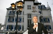 Der Milliardär Alexander Lebedev hat Zweifel, ob er das Hotel Gütsch tatsächlich umfassend ausbauen will. (Archivbild Chris Iseli/Neue LZ)