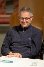 Pfarrer Wendelin Bucheli selbst sagte lediglich: «Schön, seid Ihr hier». Danach sprach er ein Gebet. (Bild: Keystone)