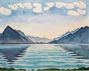 Ferdinand Hodlers Thunersee von 1905 ist in Genf und Bern zu sehen. (Bild: MAH Genf)