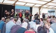 Die Dixieland-Band Steppin Stompers begeisterte im vergangenen Sommer die Besucher. (Bild: Maria Schmid (Baar, 16. Juli 2017))