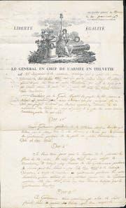 Mit diesem Schreiben wollte General Schauenburg Nid-, Obwalden und das Kloster Engelberg dazu bringen, Unterwalden zu gründen. (Bild: pd)