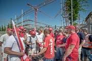 Der Streik auf der Grossbaustelle in Sursee ist beendet. (Bild: Pius Amrein/Neue LZ)