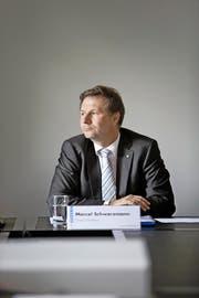 Finanzdirektor Marcel Schwerzmann am 1. Juni bei der Präsentation der Untersuchungen im Informatikbereich. (Bild Manuela Jans)