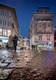 Ein Blick auf die Pflästerung in der Altstadt Luzern, hier auf dem Falkenplatz. (Symbolbild) (Bild: Pius Amrein / Neue LZ)