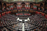 Abgeordnetenkammer des italienischen Parlaments. (Bild: Franco Origlia/Getty (Rom, 3. Februar 2017))