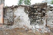 Der Mauerabschnitt beim Huwilerturm vor der Restaurierung. (Bild: PD)