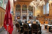 Ständeräte debattieren am Montag, dem 1. Dezember 2014, während der Wintersession der eidgenössischen Räte in Bern. (Bild: Keystone/Peter Klaunzer)