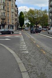 Die Bundesstrasse in Luzern wurde verschmutzt. (Bild: Luzerner Polizei)