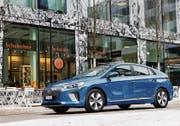 Der Hyundai Ioniq verrät mit seinem Design nicht, welche Antriebsform in ihm steckt. Bild: PD