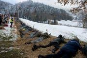 Aus der ganzen Schweiz sind die Schützen zum Morgartenschiessen gereist. (Bild: Maria Schmid (15. November 2017))