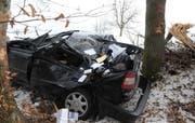 Das Unfallfahrzeug. (Bild Kapo Luzern)