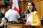 Kämpft für einen neuen Ansatz: Die Zürcher SP-Nationalrätin Chantal Galladé während einer Ratsdebatte im Mai letzten Jahres. (Bild: Keystone/Peter Klaunzer)
