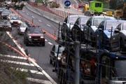 Mit Verkehrseinschränkungen muss man wegen Bauarbeiten auf der Autobahn A4 zwischen Arth und Goldau rechnen. (Bild: Archiv Neue LZ)