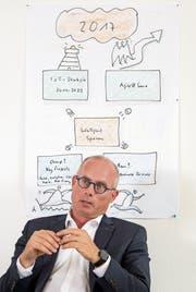 Suva-Informatikchef Stefan Scherrer (52). (Bild: Nadia Schärli (Luzern, 28. Juni 2017))