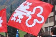 Eine Fahne des Kantons Nidwalden. (Archivbild Neue NZ)