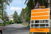 Die Kehrsitenstrasse ist für jeglichen Verkehr gesperrt. (Bild: Matthias Piazza / Neue Nidwaldner Zeitung)