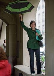 Regula Rytz, seit 2012 Präsidentin der Grünen, hatte zuletzt gut lachen. (Bild: Marcel Bieri/KEY (Bern, 8. Juni 2016))