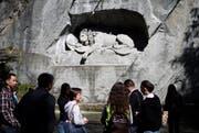 Das Löwendenkmal in der Stadt Luzern. (Bild: Manuela Jans / Neue LZ)
