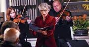 Barbara Niquille setzte mit ihrem Gesang dem Konzert die Krone auf. (Bild: Werner Schelbert (Zug, 1. Dezember 2017))