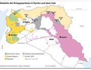 Gebiete Kriegsparteien Syrien Irak (Bild: Grafik: Oliver Marx)