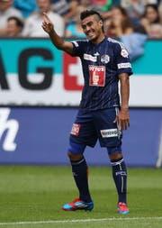Bleib noch bis 30. Juni 2017 beim FC Luzern: Der 25-jährige Dario Lezcano. (Bild: Philipp Schmidli)