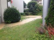 Keller vollgelaufen: Wasserleitungsbruch an der Sternmattstrasse in der Stadt Luzern (Bild: Radio-Pilatus-Hörerin Carla)