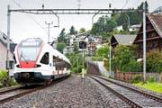 Die Streckensanierung und der Doppelspurausbau in Walchwil sind vorerst um mindestens ein Jahr verschoben. (Bild Patrick Hürlimann)