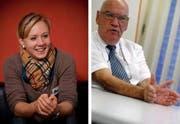 Arielle Kaselin und Otto Ineichen. (Bilder Philipp Schmidli und Fabienne Arnet/Neue LZ)