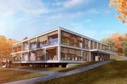 So soll das neue Unterstufenzentrum in Beromünster aussehen. (Bild: Visualisierung PD)