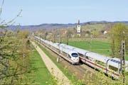 Dank stündlicher ICE-Verbindungen ab Basel erreicht man die badischen Städte schnell und bequem.