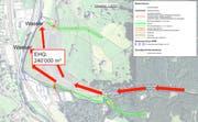 Die geplanten Massnahmen entlang des Buoholzbach. (Bild PD)