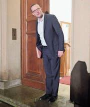 Optimistischer Blick in die Zukunft: Jens Spahn, Präsidiumsmitglied der CDU, gilt als Hoffnungsträger der Konservativen – und potenzieller Merkel-Nachfolger. (Bild: Michael Kappeler/Keystone (Berlin, 20. Oktober 2017))
