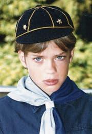 Florian Burkhardt im Kindesalter.