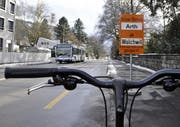 Blick auf der Artherstrasse vom Casino Richtung ehemaliges Kantonsspital. (Bild Dominik Hodel/Neue ZZ)