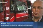 Roman Iten, Sicherheitsverantwortlicher Nachtumzug Sattel 2015 (Bild: Screenshot)