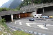 Gotthard-Nordportal in Göschenen. (Bild: Florian Arnold / Neue UZ)