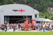 Ingesamt sechs Helikopter konnten die Besucher vor Ort bestaunen. (Bild Rega)