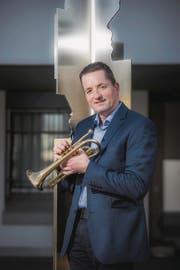 Er ist der Präsident von 4500 Musikanten: Christoph Troxler. (Bild: Dominik Wunderli (Hildisrieden, 15. März 2017))