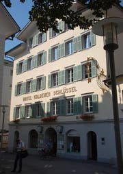 Ort des Geschehens: Das Hotel Goldener Schlüssel. (Archivbild Markus Zwyssig)