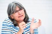 ARE-Chefin Maria Lezzi ist promovierte Geographin und Mitglied der SP. (Bild: Manuel Lopez/Keystone)