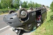 Ein Bild von der Unfallstelle. (Bild: Luzerner Polizei)