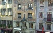 Bemalte Fassaden auf dem Weinmarkt in Luzern. (Archivbild Eveline Bachmann/Neue LZ)