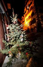 Weihnachten bleibt dieses Jahr im Unterland wohl grün. Hier ein Christbaum in der Zuger Altstadt. (Bild: Archiv Stefan Kaiser / Neue ZZ)