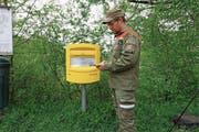Der intelligente Briefkasten ist mit einem Display und Sensoren ausgestattet. (Bild: . Bild: St. Galler Stadtwerke)