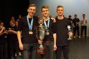 Die Sieger der Kategorie «Percussion Ensemble». (Bild: ZVG)