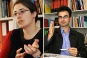 Sandra Lavenex und Joachim Blatter, Professoren am Seminar für Politikwissenschaft an der Universität Luzern. (Bilder Eveline Bachmann und Chris Iseli/Neue LZ)