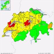 Bild: Meteocentrale.ch (Stand: 20.22 Uhr)