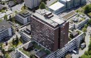 Das Spitalzentrum Luzern aus der Luft. (Bild Pius Amrein/Neue LZ)
