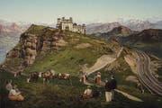 Majestätisch: Rigi-Kulm. Ansicht auf einer Postkarte. (Bild: PD/Regionalmuseum Vitznau-Rigi)